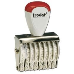 Numéroteur à encrage séparé, chiffres de hauteur 4mm - 10 bandes