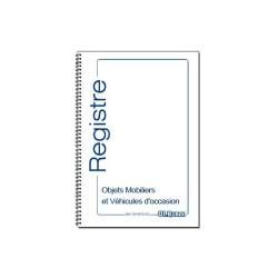 Registre des objets mobiliers et véhicules d'occasion, 100 pages