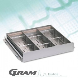 Option Tiroir Aluminium pour Armoire BioCompact II de 583 litres