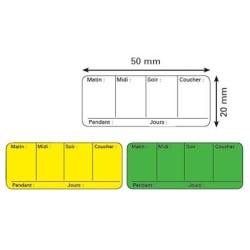 Étiquette pharmacie posologie 50x20mm par 500