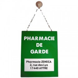 Plaque Plexiglas 200x285mm pharmacie de garde
