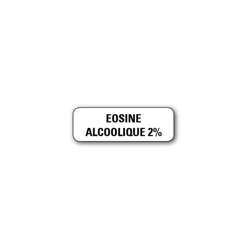 """720 ETIQUETTES 38*13MM IMP """"EOSINE ALCOOLIQUE 2%"""""""