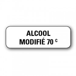 "Etiquette pharmacie 35,6x16,9mm ""alcool modifie 70°"" par 720"