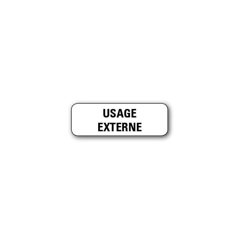 """720 ETIQUETTES 38*13MM IMP """"USAGE EXTERNE"""""""