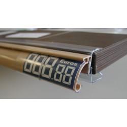 Porte etiquette individuel slimline h26 L30mm