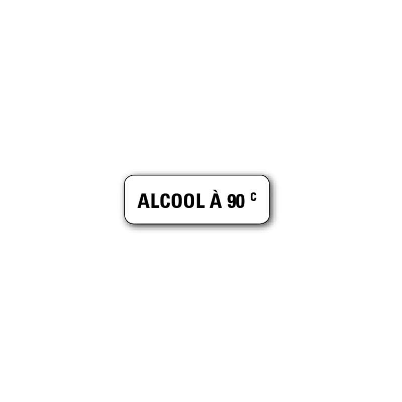 """720 ETIQUETTES 38*13MM IMP """"ALCOOL A 90°"""""""