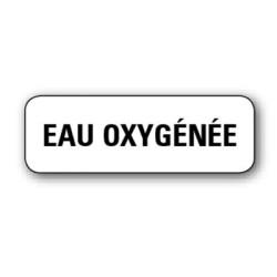 """Etiquette pharmacie 35,6x16,9mm """"eau oxygenee"""" par 720"""