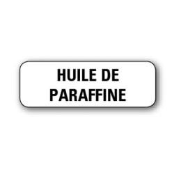"""Etiquette pharmacie 35,6x16,9mm """"huile de parafine"""" par 720"""