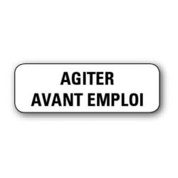 """Etiquette pharmacie 35,6x16,9mm """"agiter avant emploi"""" par 720"""