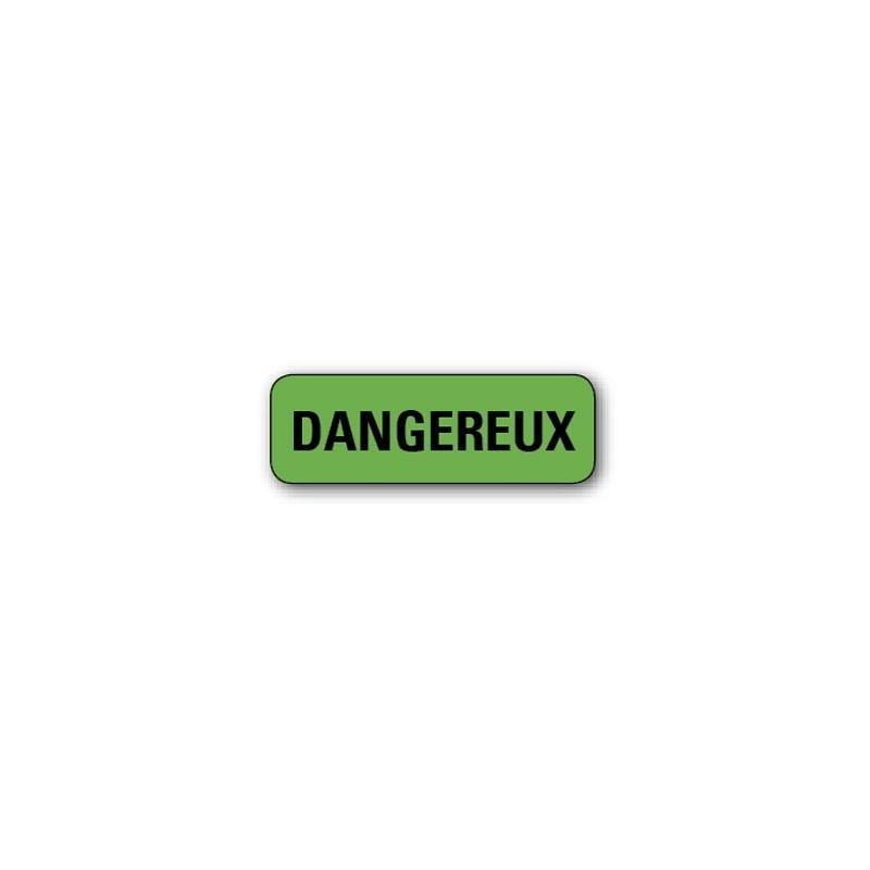 """720 ETIQUETTES 38*13MM IMP """"DANGEREUX"""""""