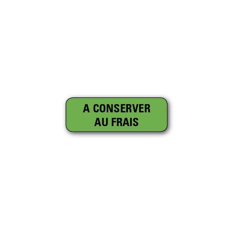 """720 ETIQUETTES 38*13MM IMP """"A CONSERVER AU FRAIS"""""""