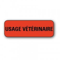 "Etiquette pharmacie 35,6x16,9mm ""usage veterinaire"" par 720"
