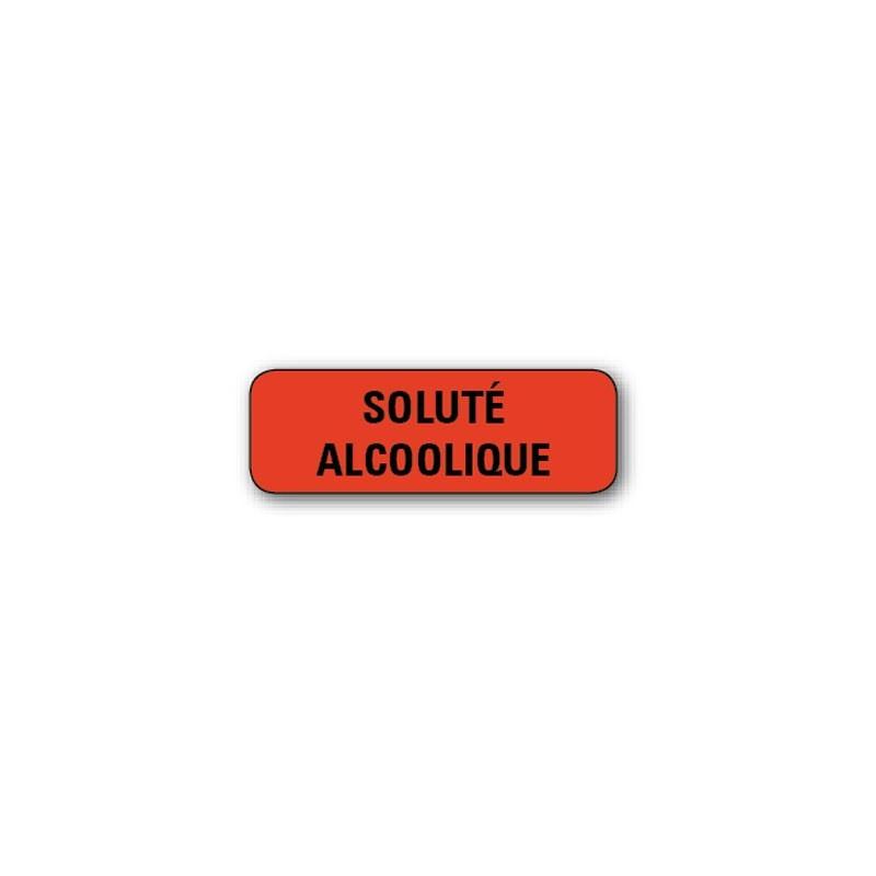 """720 ETIQUETTES 38*13MM IMP """"SOLUTION ALCOOLIQUE"""""""