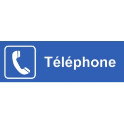 Plaque acrylique securite 150x40mm telephone