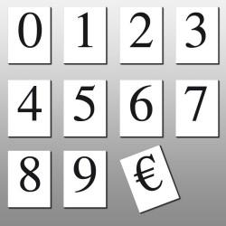 Caractères prix 30mm (lot de 110) texte noir