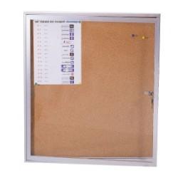 Panneau d'affichage intérieur vitré 670x700mm magnétique blanc