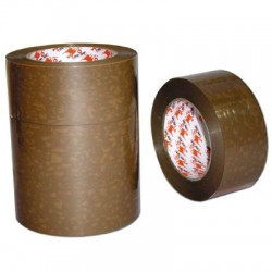 Ruban adhesif pvc havane 50mmx100m lot de 6