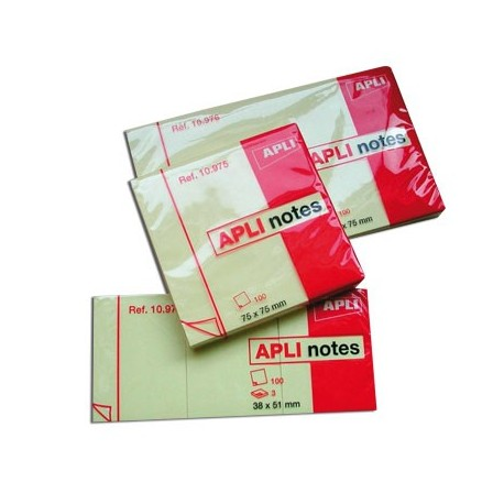 NOTE ADHESIVE JAUNE REPOSITIONNABLE LOT DE12