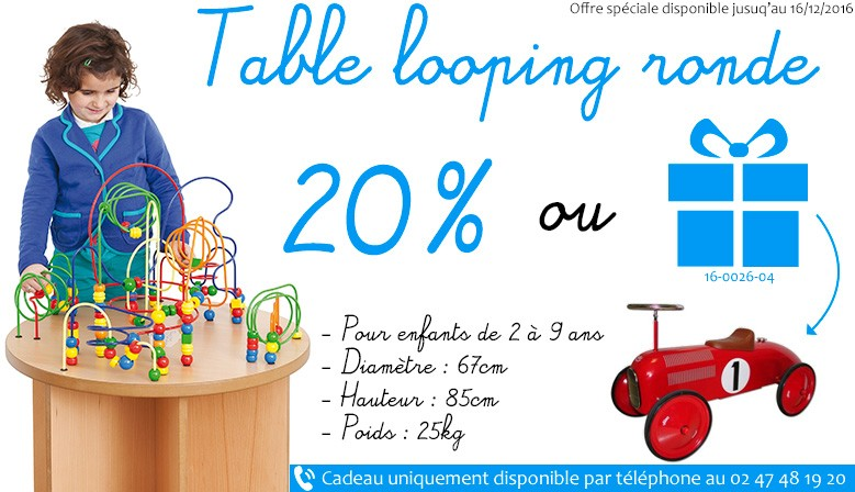 Promotion 2016 pour les tables loopings