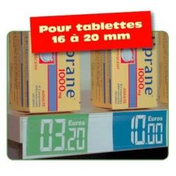 lineaire porte prix profile adhesif 1000x30mm par 10