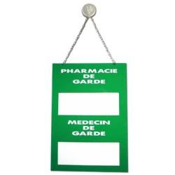 Plaque Plexiglas 200x285mm pharmacie et médecin de garde