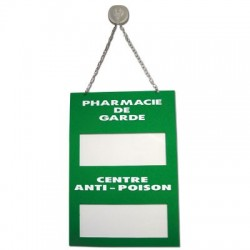 Plaque Plexiglas 200x285mm pharmacie de garde et centre anti-poison