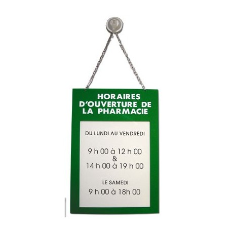 plaque plexiglas 200x285mm horaires ouverture rubex pharma. Black Bedroom Furniture Sets. Home Design Ideas