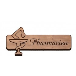 Badge bois pharmacie standard