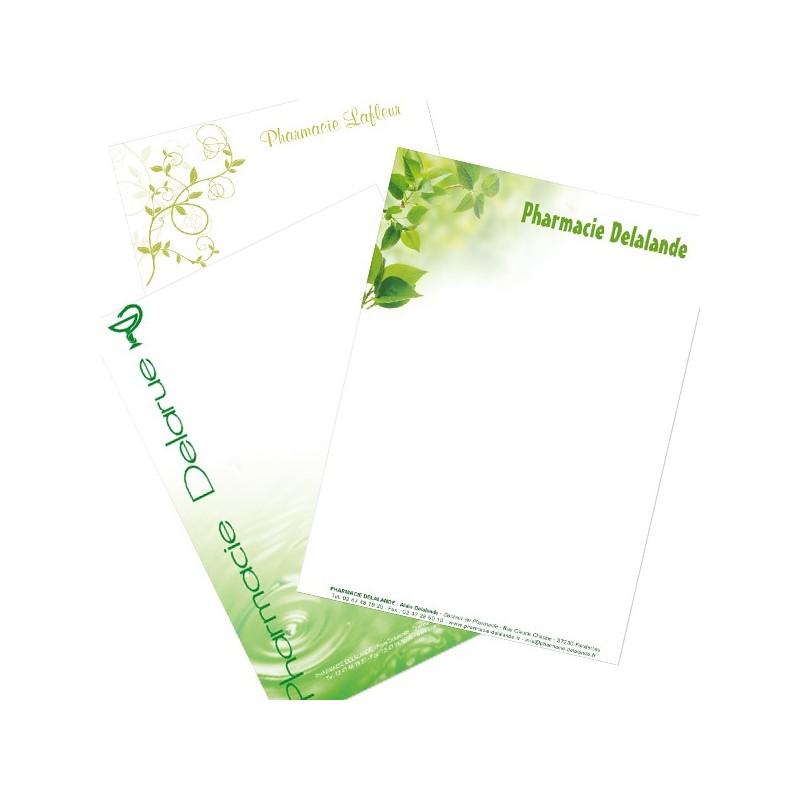 En-Tête de lettre personnalisé sur Opale Uni 90g/m²
