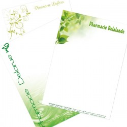 En-Tête de lettre personnalisé sur Opale toilé100 g/m²