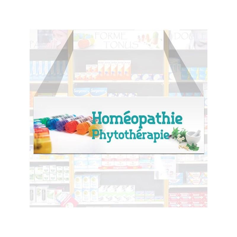 Tête de rayon Homéopatie, Phytotérapie - Illustration standard par Photomatix