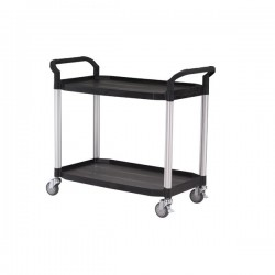 Chariot plastique 2 niveaux - Noir