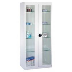 Armoire médicale avec 2 porte vitrée - 169 x 75 x 38 cm