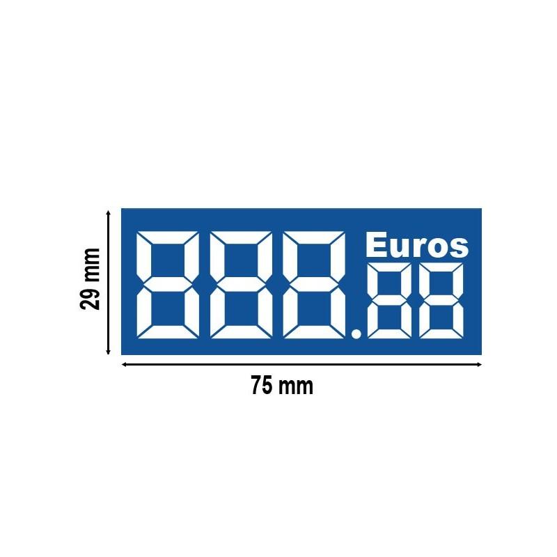 Etiquette digiprix 29x75mm euros (lot de 390)