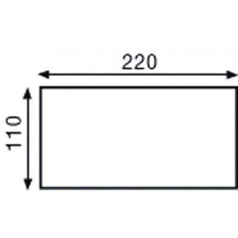 Boîte de 500 enveloppes autocollantes 80g format 110x220 DL