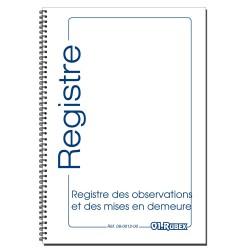 Registre des Observations et des Mises en Demeures, format A4