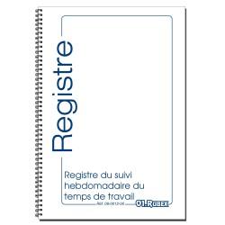 Registre du Suivi Hebdomadaire du Temps de Travail, Format A4