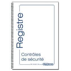 Registre des contrôles techniques de sécurité, format A4, 60 pages