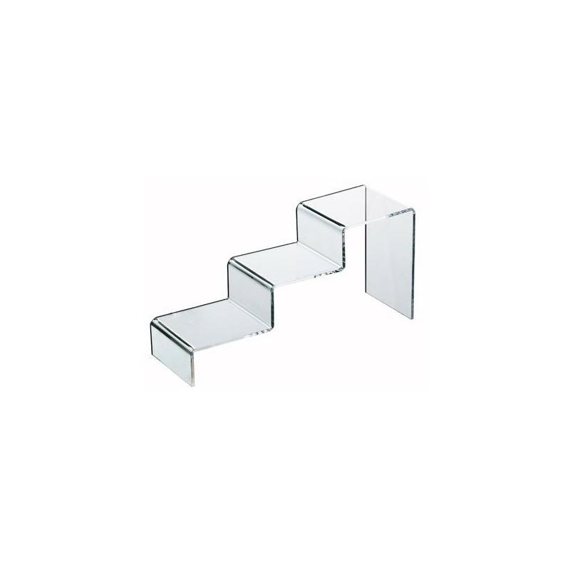 Escaliers plexiglas 3 marches l100p310h150mm
