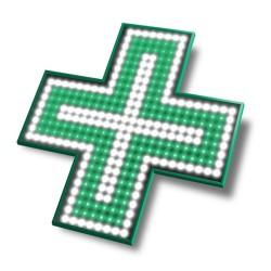 Croix de vitrine bicolore Intérieur extérieur (480x480x15mm)