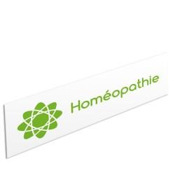 """Bandeau d'ambiance Homéopathie - Illustration """"atome"""""""