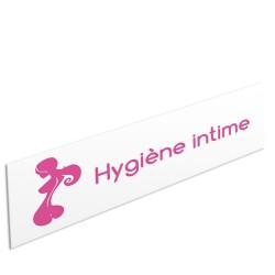 "Bandeau d'ambiance Hygiène intime - Illustration ""silhouette"""