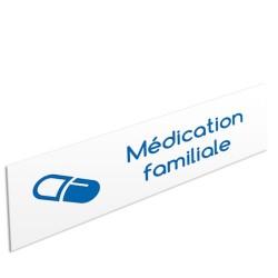 """Bandeau d'ambiance Médication familiale - Illustration """"gélule"""""""