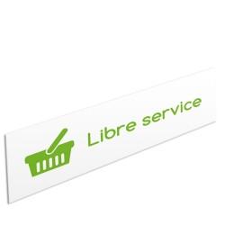 """Bandeau d'ambiance Libre service - Illustration """"panier"""""""