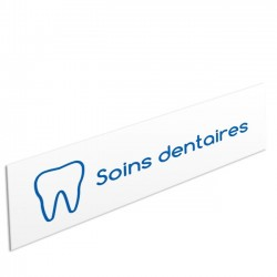 "Bandeau d'ambiance Soins dentaires - Illustration ""dent"""
