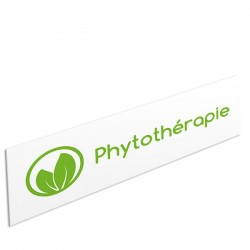 """Bandeau d'ambiance Phytothérapie - Illustration """"cercle feuille"""""""