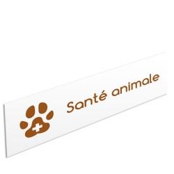 """Bandeau d'ambiance Santé animale - Illustration """"empreinte"""""""