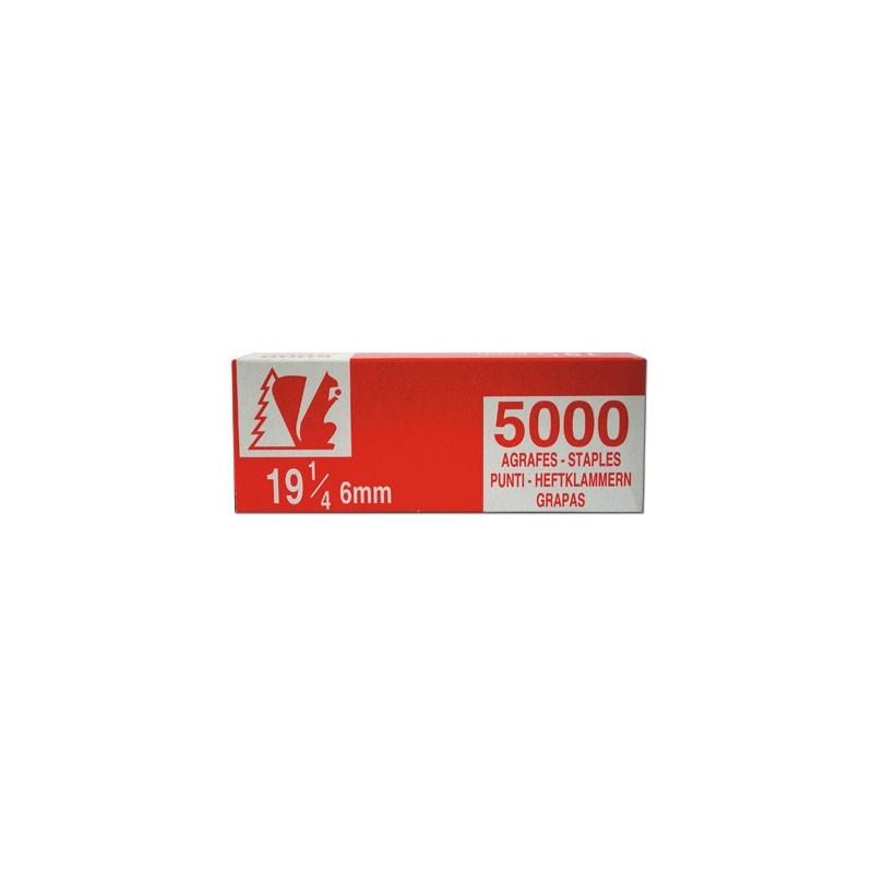 AGRAFE 19 1/4 par 6 BOITES DE 5000