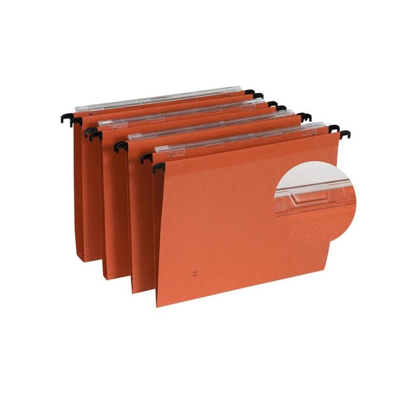dossier suspendu orange tiroir fond 15mm par 25 volet d. Black Bedroom Furniture Sets. Home Design Ideas