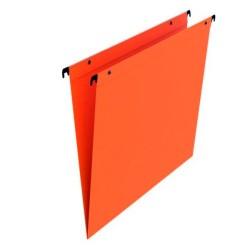 Dossier suspendu orange tiroir fond en v par 25 boutons pression